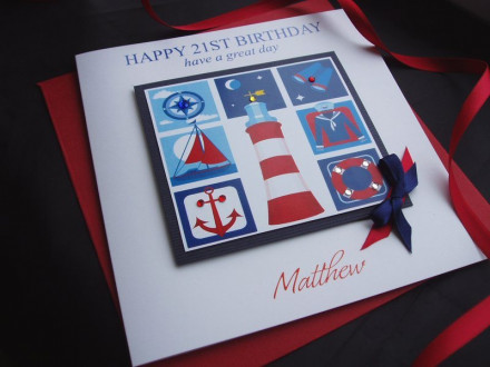 Birthday Nautical Icons Card