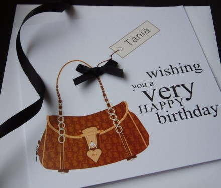Designer Bag Birthday Card