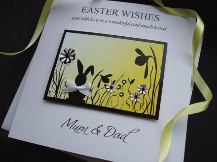 "Handmade Easter Card ""Sunshine Rabbit"""