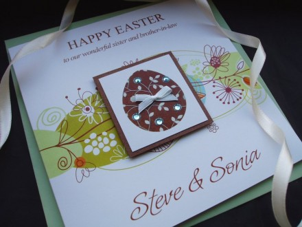 "Handmade Easter Card ""Spring Chocolate Egg"""