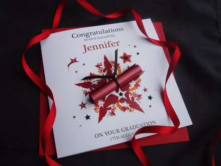 "Handmade Graduation Card ""Star"""