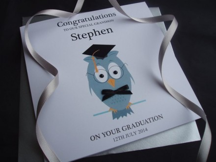 Handmade Graduation Card Wise Owl