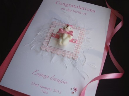 Luxury New Baby Teddy Card
