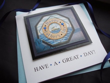 Nautical Life Ring Father's Day Card