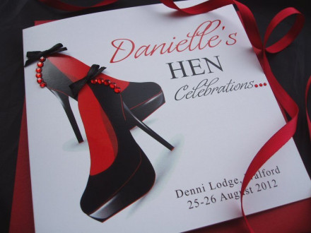Handmade Hen Card Shoes