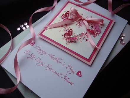 """Luxury Mother's Day Card """"Butterfly Heart"""""""