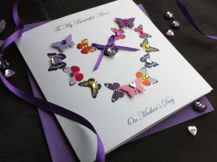 "Handmade Mother's Day Card ""Butterfly Heart"""