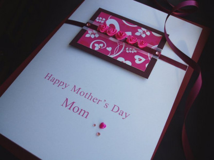 """Luxury Mother's Day Card """"Satin Roses"""""""