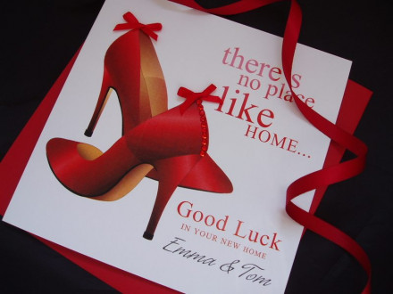 Handmade New Home Card Red Shoes