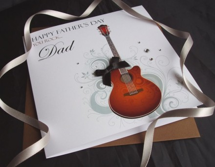 Father's Day Guitar Card