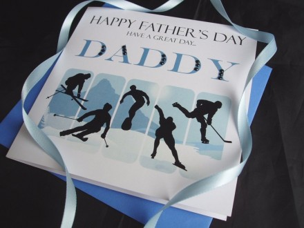 Father's Day Winter Sports Card