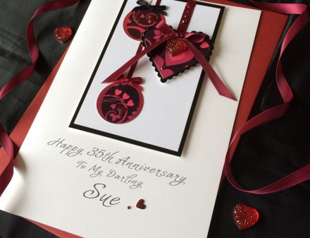 Beautiful Red Bauble Anniversary Card