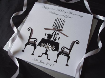 Dining Table Wedding Anniversary Card