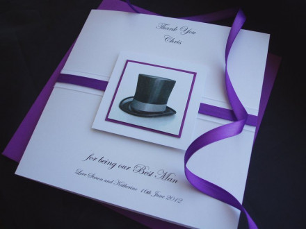 Thank You Top Hat Card