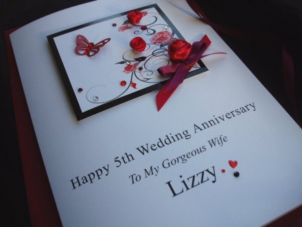 Beautiful Red Roses Anniversary Card