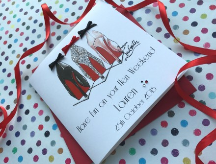 Handmade Hen Party Card (Party Shoes)