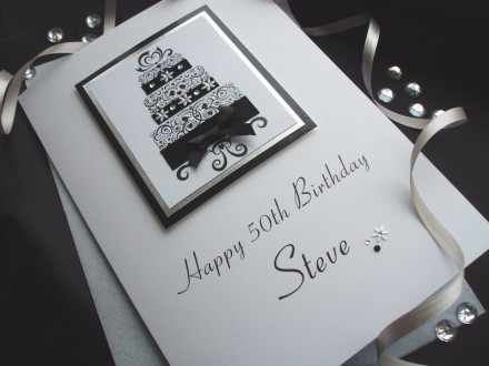 Luxury Birthday Cake Card