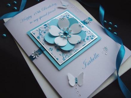 Exquisite Flower Birthday Card