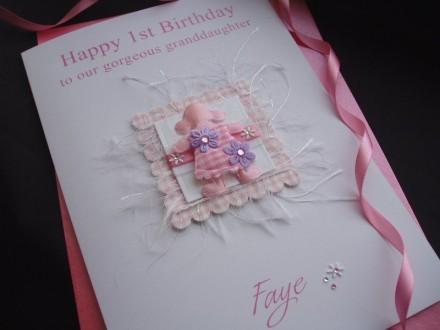 Gingham Doll Birthday Card