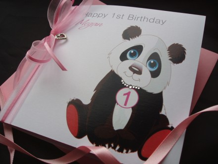 Childrens Cute Panda Birthday Card