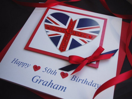 Birthday Union Jack Card