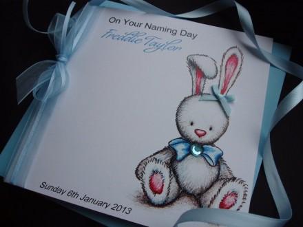 Christening Rabbit Card