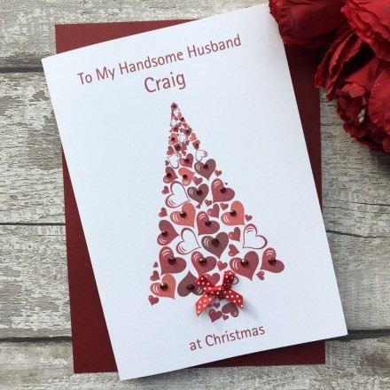 Handmade Christmas Card 'Heart Tree'