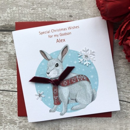 Handmade Christmas Card 'Rabbit'