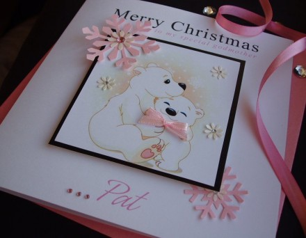 Handmade Christmas Card Bears