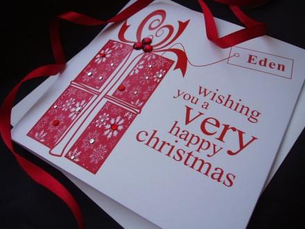 Handmade Christmas Card Present