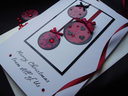 Handmade Christmas Card Bauble