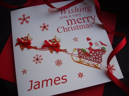 Handmade Christmas Card Santa