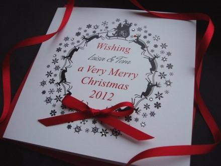 Handmade Christmas Card Wreath