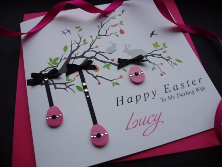 "Handmade Easter Card ""Easter Branch"""