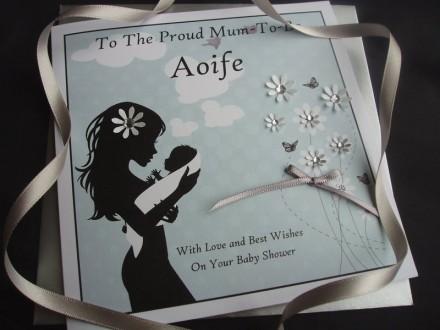 """Handmade Baby Shower Card """"Loving Mother"""""""