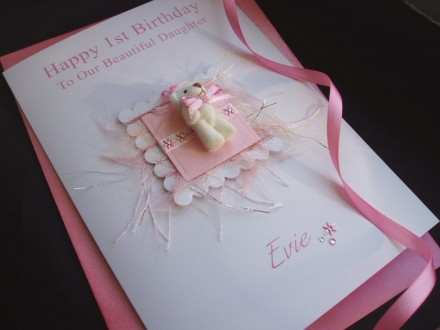 Luxury Teddy Bear Birthday Card