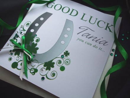 Handmade Good Luck Card