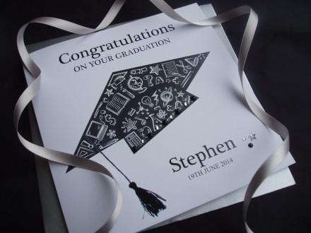 Handmade Graduation Card Mortar Board