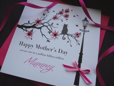 """Handmade Mother's Day Card """"Floral Branch"""""""