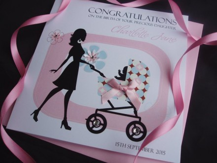 Mother with Pram Card