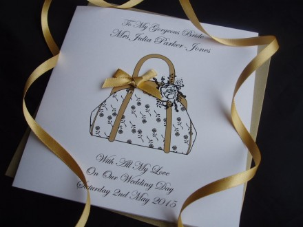 Beautiful Groom to Bride Rose Bag Card