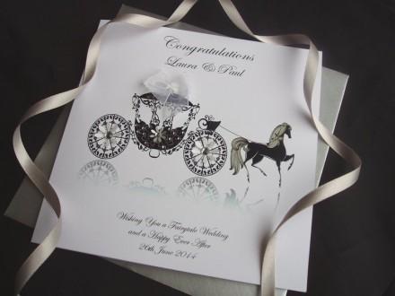 Handmade Wedding Card Carriage
