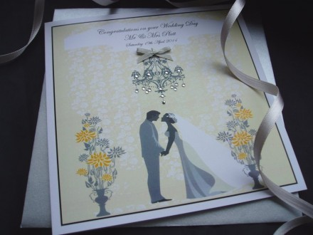 Handmade Wedding Card Couple