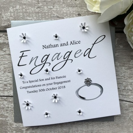 Handmade Engagement Card 'Ring'