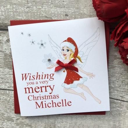 Handmade Christmas Card 'Fairy'