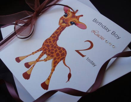 Cute Giraffe Birthday Card