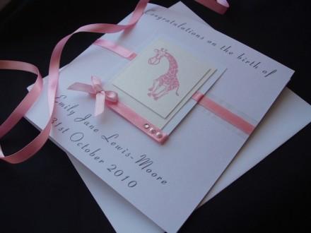 Delightful New Baby Giraffe Card