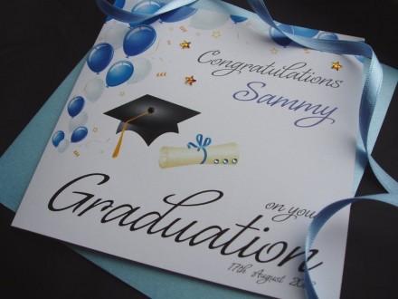 Handmade Graduation Card Mortarboard
