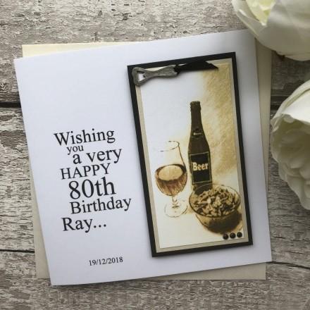 Handmade Birthday Card 'Beer'