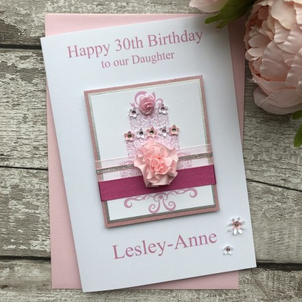 Luxury Handmade Birthday Card 'Cake'